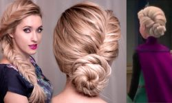 Frozen S Elsa Hairstyle Tutorial For Long Hair Updo Braid Hairstyles